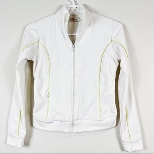 UB Jean White Front Zipper Pocket Small Jacket